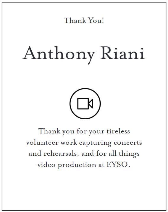 Thank You Anthony