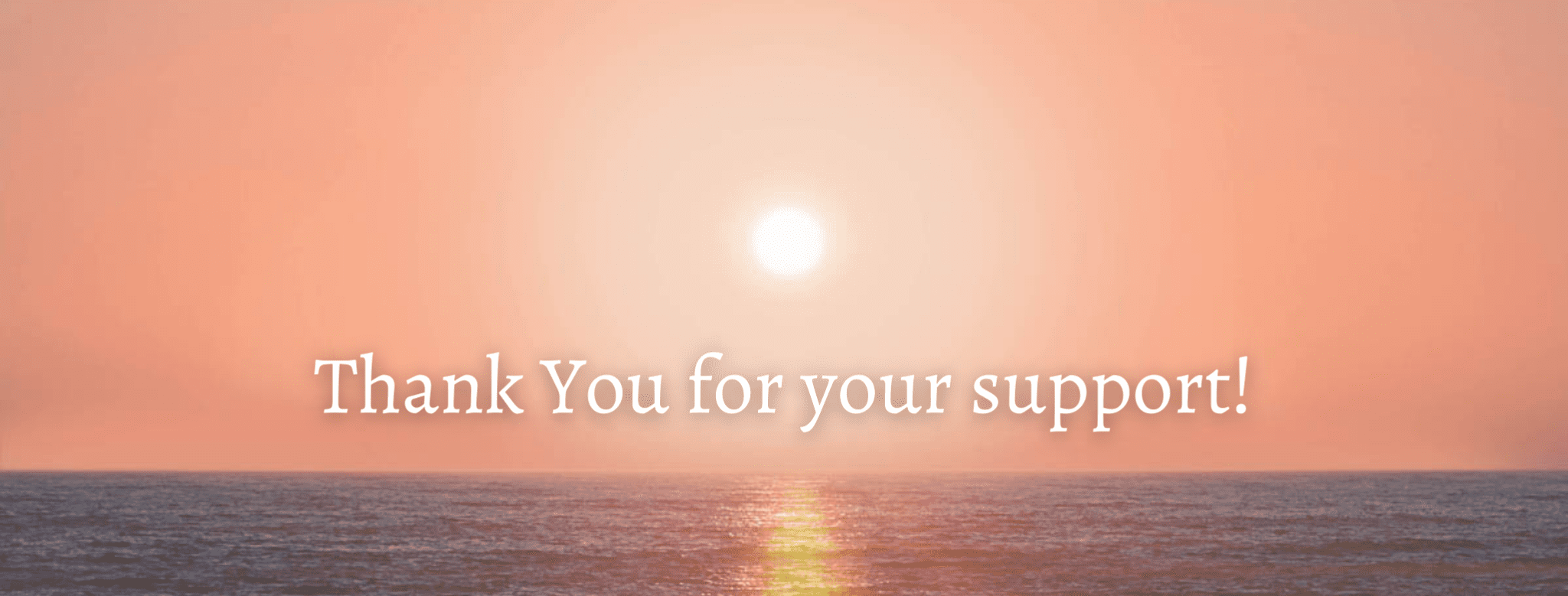Thank You for your support! For website