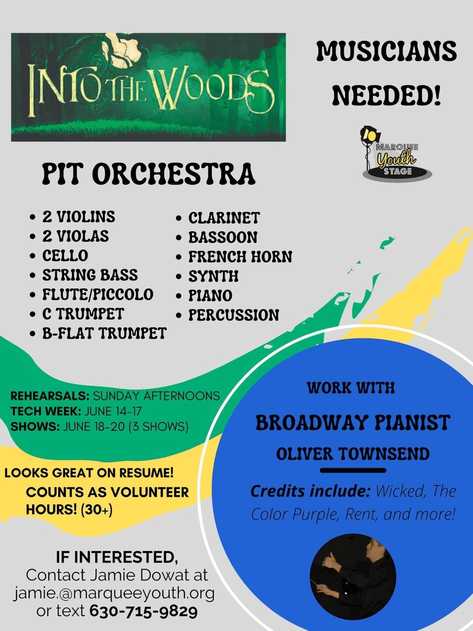 into the wood pit orchestra